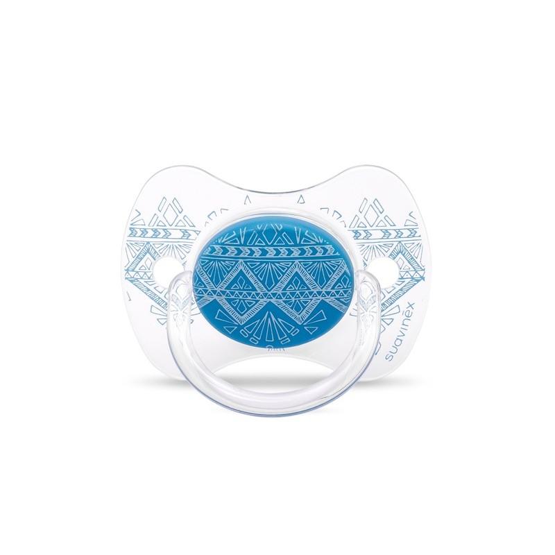 SUAVINEX Chupete Couture Tetina Silicona Fisiologica 4-18 meses AZUL OSCURO