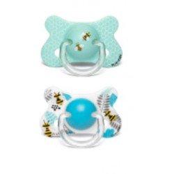 SUAVINEX Duplo Chupete Fusion Látex Anatómico 4-18meses (abejas)