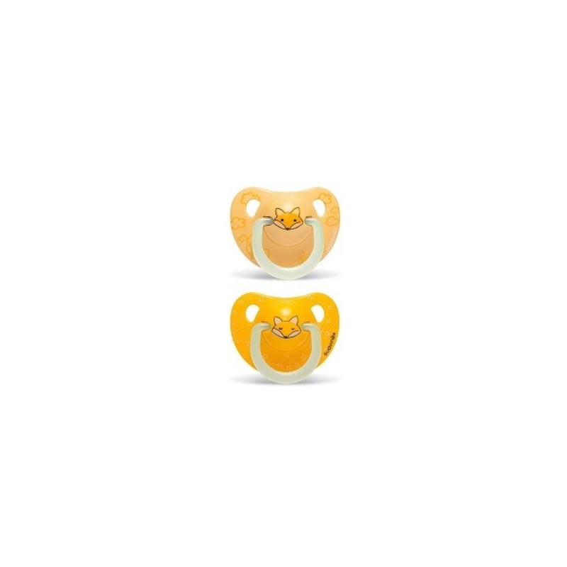 SUAVINEX Duplo Chupete Latex Night&Day 6-18 meses (amarillo)