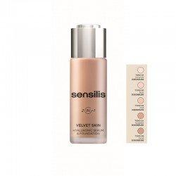SENSILIS Base Maquillaje Velvet Skin Hyaluronic Sérum&Foundation 2en1 (01 AMANDE)
