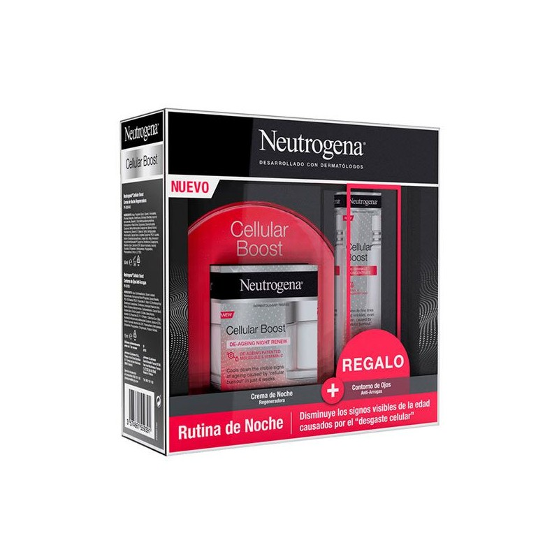 NEUTROGENA Pack Cellular Boost Crema de Noche 50ml+ REGALO Contorno de Ojos 15ml