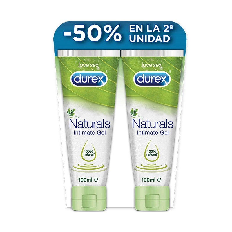 DUREX Naturals Gel Duplo Lubricante Íntimo Pure 100% Natural 2x100ml