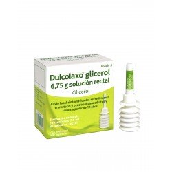 DULCOLAXO GLICEROL 6.75 G SOLUCION RECTAL 6 ENEMAS 7.5 ML