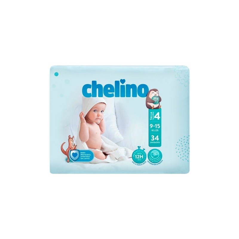 CHELINOS Pañales Talla 4 34 Unidades