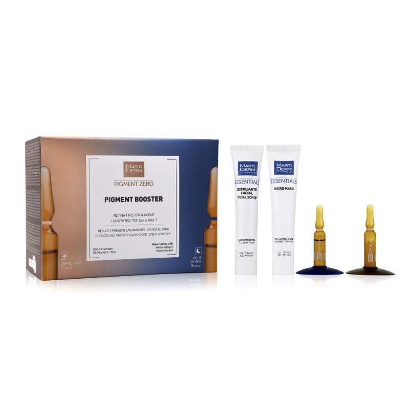 MARTIDERM Pack Pigment Booster 15 ampollas DSP-Bright + 15 ampollas Night Renew