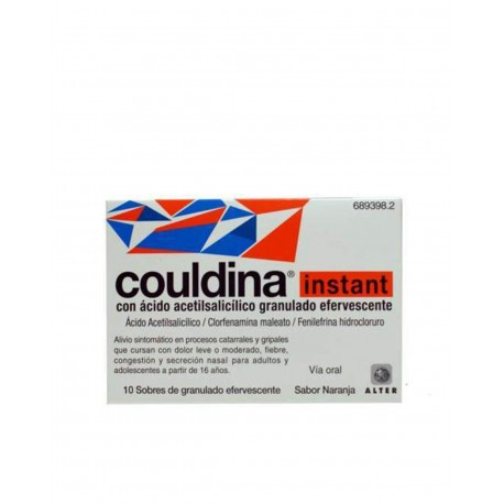 Couldina Instant con Acido Acetilsalicílico 10 Sobres