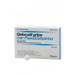 GELOCATIL Gripe Pseudoefedrina 20 Comprimidos