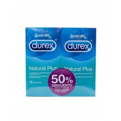 DUREX Preservativo Natural Plus Duplo 2x12