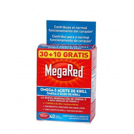 MEGARED Omega-3 Aceite de Krill 30 Cápsulas + 10 GRATIS