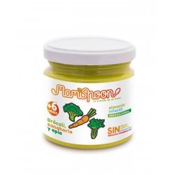 MAMISPOON Potito Ecologico Brocoli, Zanahoria y Apio +6 Meses 180G