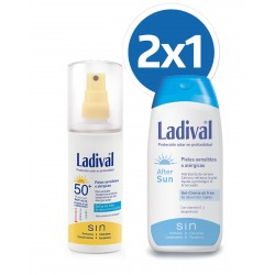LADIVAL Duplo Pieles Sensibles/Alergicas SPF50 Spray 150ML + After Sun 200ML
