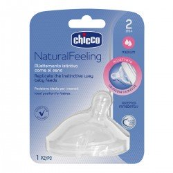CHICCO Tetina Natural Feeling Flujo Medio 2m+
