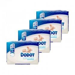 DODOT Sensitive Recién Nacido Talla 2 (3-6 kilos) PACK 136 Unidades