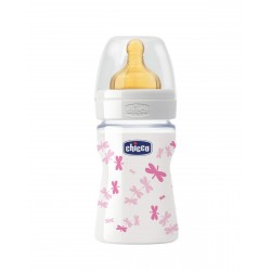 CHICCO Biberon Well-Being Vidrio 150ML Silicona Neutro