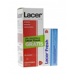LACER Anticaries Colutorio 500ML + Gel Lacer Fresh GRATIS