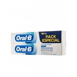 ORAL-B Pasta Dentífrica Encias & Esmalte Repair 2x125ML