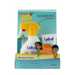 LADIVAL Pack Niños Spray 200ML + Pieles Atopicas 75ML + Pelota GRATIS
