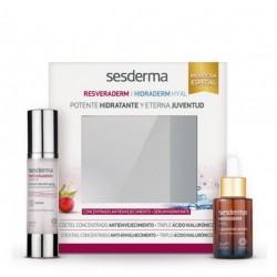 SESDERMA PACK Resveraderm Antiox Concentrado Antienvejecimiento, 50 ml+Hidraderm Hyal Liposomal Serum, 30ml