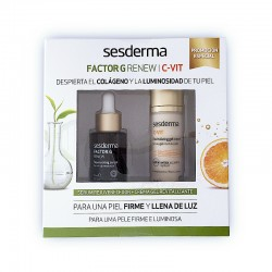 SESDERMA Pack Factor G Renew Serum + C-Vit Crema Gel