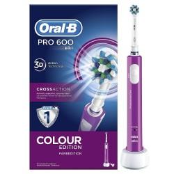 ORAL-B Cross Action Pro600 Cepillo Eléctrico Morado
