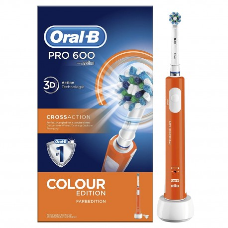 ORAL-B Cross Action Pro600 Cepillo Eléctrico Naranja