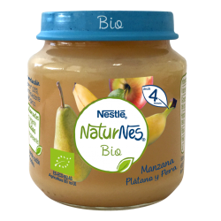 NESTLÉ Puré Manzana, Plátano y Pera 120G