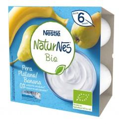 NESTLÉ Naturnes Bio Postre Lácteo Tarrina Plátano y Pera 4x90G