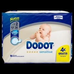 DODOT Sensitive Recién Nacido Talla 2 (4-8 kilos) 34 Unidades