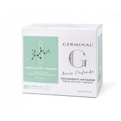 Germinal Acción Profunda Antiaging Pieles Mixtas y Grasas 30 Ampollas