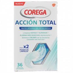 COREGA Acción Total 36 Tabletas Limpiadoras