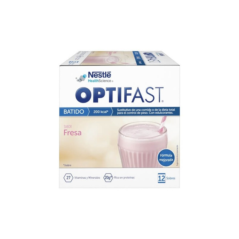 Optifast Batido fresa 12 Sobres
