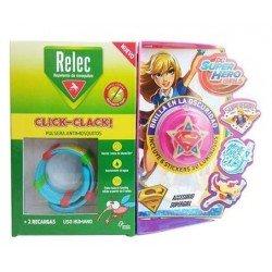 Relec Pulsera Anti-Mosquitos Infantil Click-Clack Super Girl