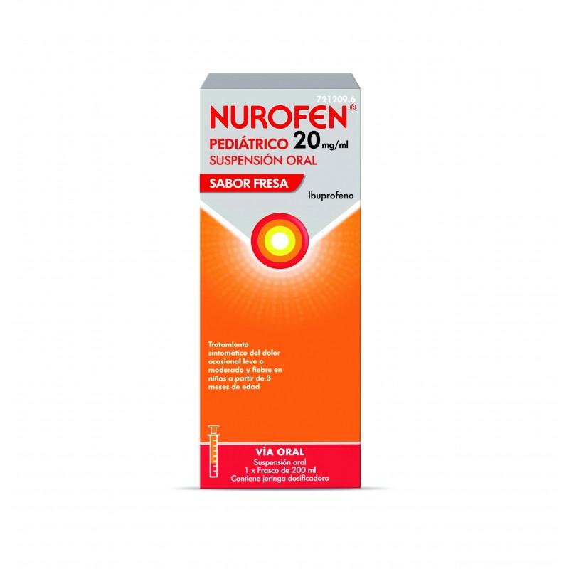 Nurofen Pediátrico 20MG/ML Fresa 200ML
