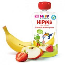 Hipp Bolsita Biológica Manzana, Plátano y Fresa 100gr