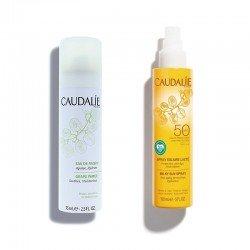 CAUDALIE Pack Spray Solar Lacteo SPF50 + Agua de Uva