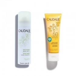 CAUDALIE Pack Crema Solar Facial Antiarrugas SPF50 + Agua de Uva