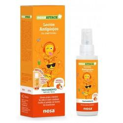 NOSA Attack Locion Antipiojos 5% Dimeticona aroma Melocoton 100ml