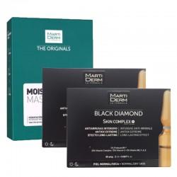 MARTIDERM duplo Black Diamond Skin Complex 2x30 Ampollas+Martiderm Moisturising Mask 10 Unidades