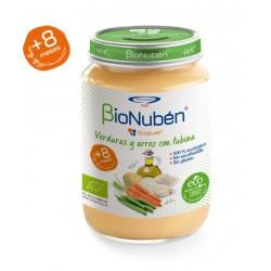 BioNuben Ecopure Verduras y Arroz con Lubina 250gr