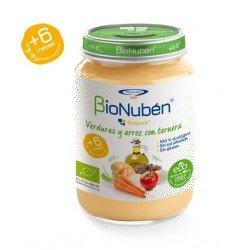 BioNuben Ecopure Verduras y Arroz con Ternera 250gr