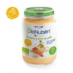 BioNuben Ecopure Verduras y Arroz con Pollo 250gr