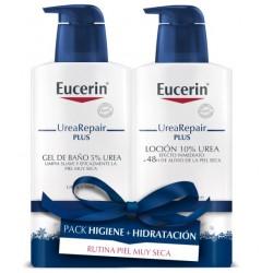 Eucerin Pack Urea Repair Plus Gel de baño 400ml+Locion 400ml
