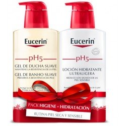 EUCERIN pH5 Pack Gel de Ducha Suave 400ml+Locion Hidratante Ultraligera 400ml