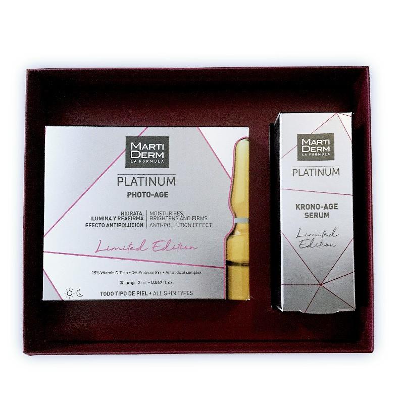MartiDerm Pack Platinum Photo-Age ampollas + Krono-Age Serum