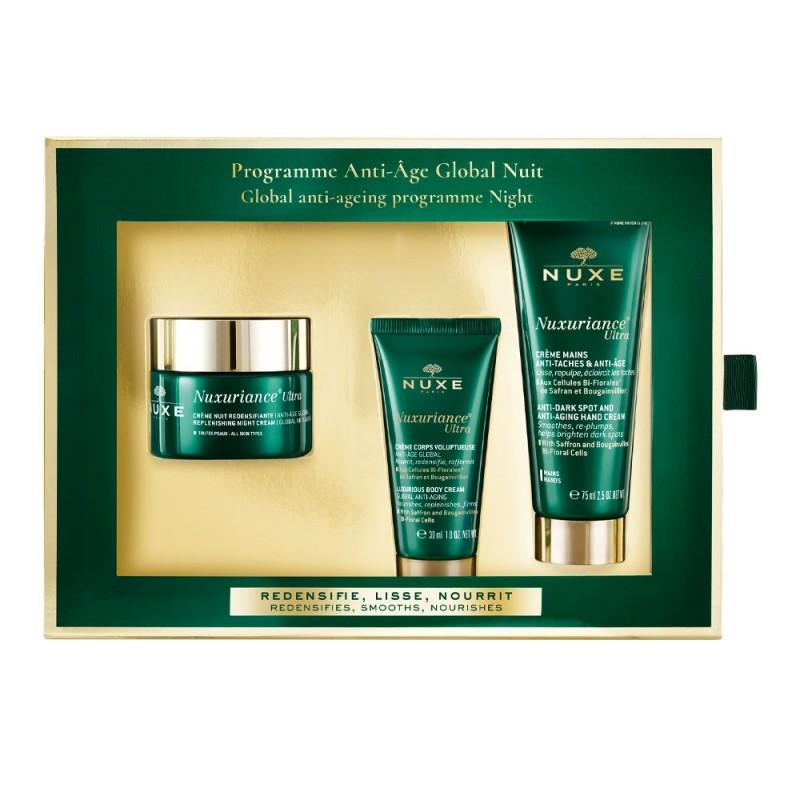 NUXE Pack Nuxuriance Ultra Crema Redensificante Noche 50ml+Crema Corporal 30ml+Crema de Manos 75ml