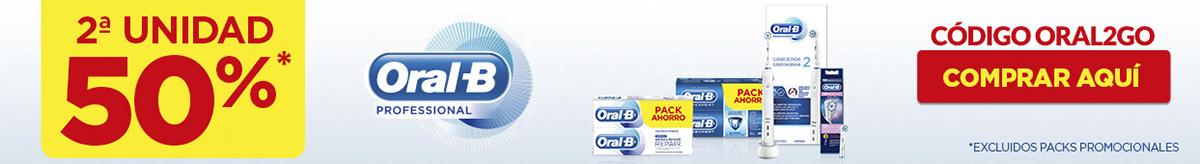 Oral-B: 2ª Unidad al 50% en Farma2go