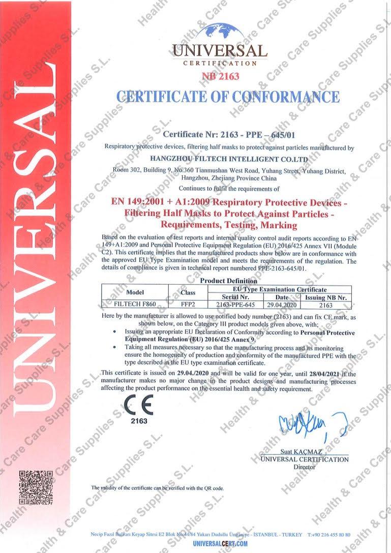 Certificado Conformidad
