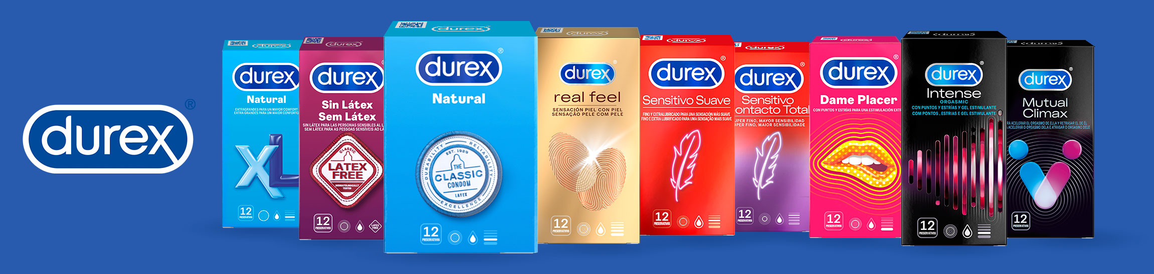 Condones Dures Real Feel, Preservativos Durex Invisible