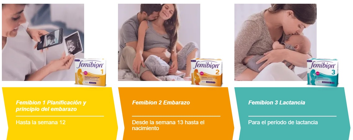 Femibion 1 Embarazo, Femibion 2 Embarazo , Femibion 3 Lactancia