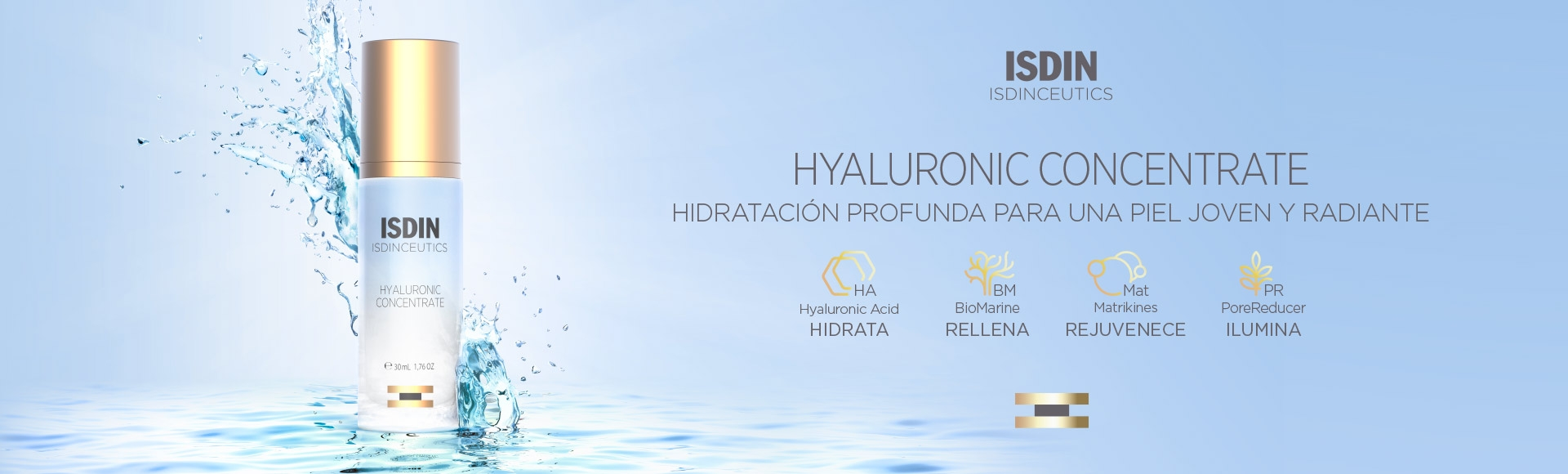 ISDINCEUTICS  Hyaluronic Concentrate Banner